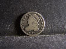 1837 BUST TEN CENTS (VG+ DETAILS / RARE COIN !!!!!!!!!!!!!)