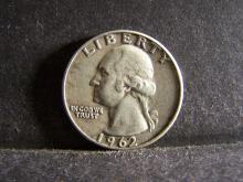 1962-D SILVER WASHINGTON QUARTER