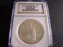 1986-S Ellis Island Commemorative Proof Silver Dollar.  NGC Certified PF 69 Ultra Cameo.