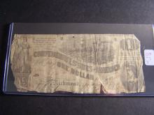 1862 CONFEDERATE STATES $1 DOLLAR (VERY RARE CURRENCY !!!!!!!!!!!!!)