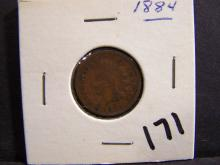 1884 INDIAN HEAD CENT (PRE 1900 CENT !!!!!!!!!!!!!!!!)