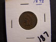 1892 INDIAN HEAD CENT (PRE 1900 CENT !!!!!!!!!!!)