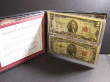 $2 & $5 United States Notes in Folder!
