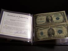 $1 & $5 Silver Certificates with Portfolio Folder