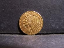 1925-D 2 1/2 DOLLARS GOLD INDIAN COIN (AU. / CLEANED / RARE GOLD $2.5 DOLLARS !!!!!!!!!!!!!!!!!)