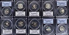 10 Silver U.S.  state quarters all slabbed