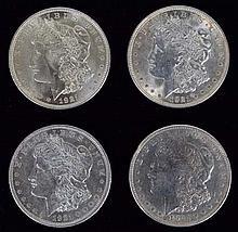 (4) 1921 Morgan dollars all high grade