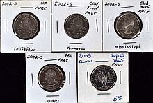 5 U.S.State proof quarters