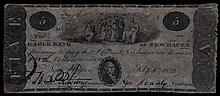 1822 Five Dollar Eagle Bank of New Haven
