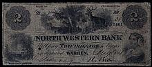 1861 Two Dollar North Western Bank of Pennsylvania