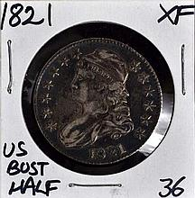 1821 U.S. Bust Half XF Nice and Sharp