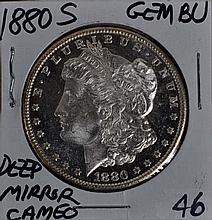1880-S Morgan Dollar GEM BU Deep Mirror Cameo