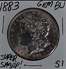 1883 Morgan Dollar GEM BU Super Sharp!!!