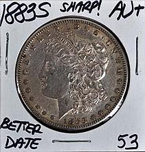 1883-S Morgan Dollar AU+ Sharp!!! Scarce!!