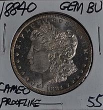 1884-O Morgan Dollar GEM BU Cameo Prooflike