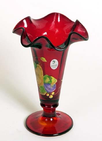 Signed Susan Fenton art glass vase 7