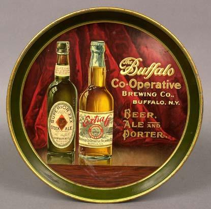 Pre-prohibition Buffalo Coop, Brewing beer tray