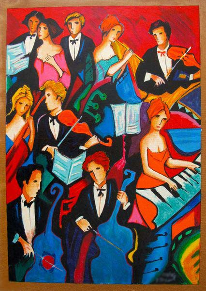 PHILIP MAXWELL THE ORCHESTRA LIMITED ED. HAND SIGNED SERIGRAPH