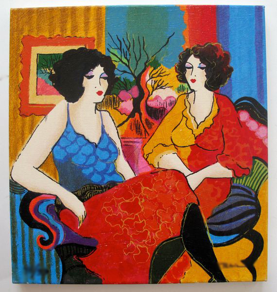 PATRICIA GOVEZENSKY MODELS TALKING HAND SIGNED LIMITED ED. GICLEE STRETCHED ON CANVAS