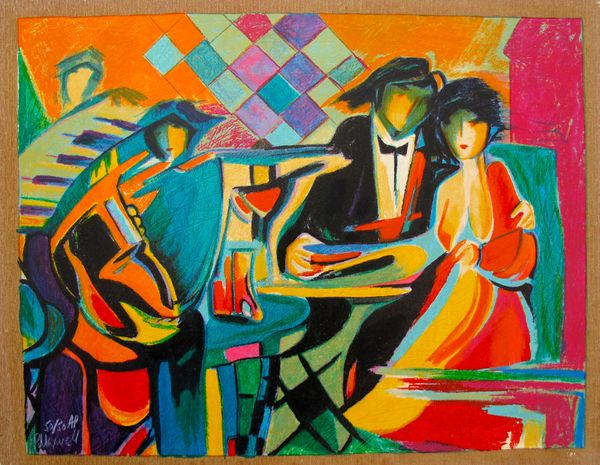 PHILIP MAXWELL THE JAZZ CLUB LIMITED ED. HAND SIGNED SERIGRAPH