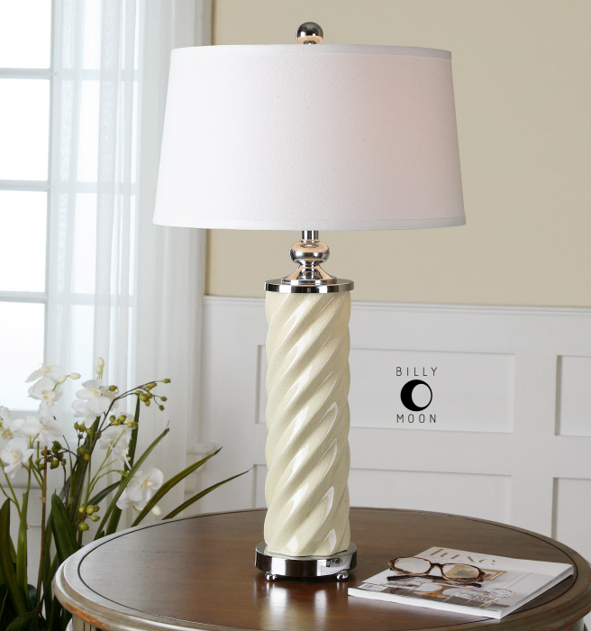 Avilius Ivory Ceramic Table Lamp
