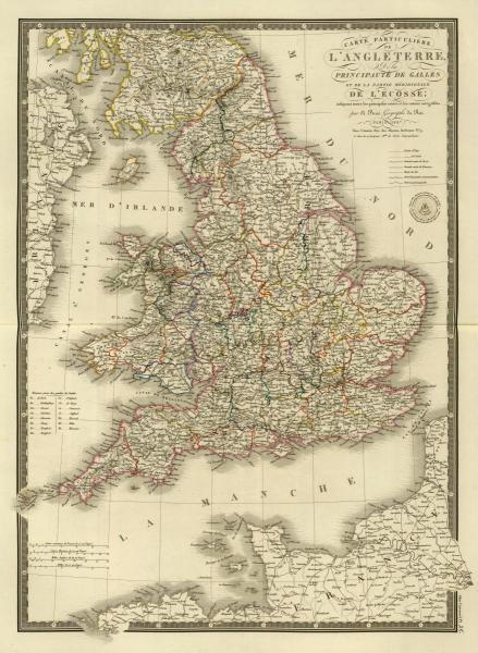 ADRIEN HUBERT BRUE - ANGLETERRE, GALLES, 1827