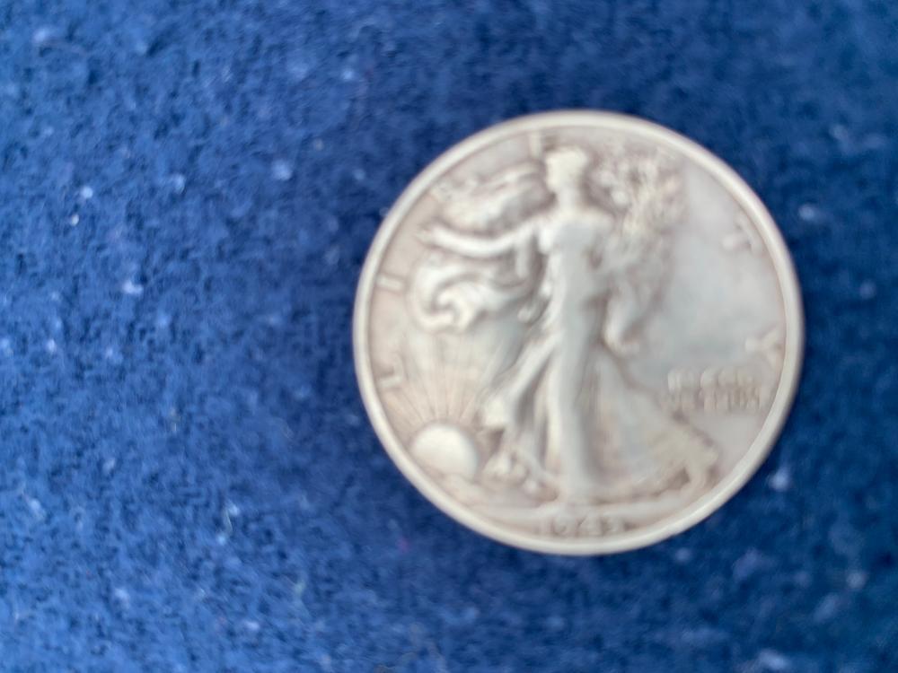 1943 S Walking Liberty Half Dollar Silver Coin