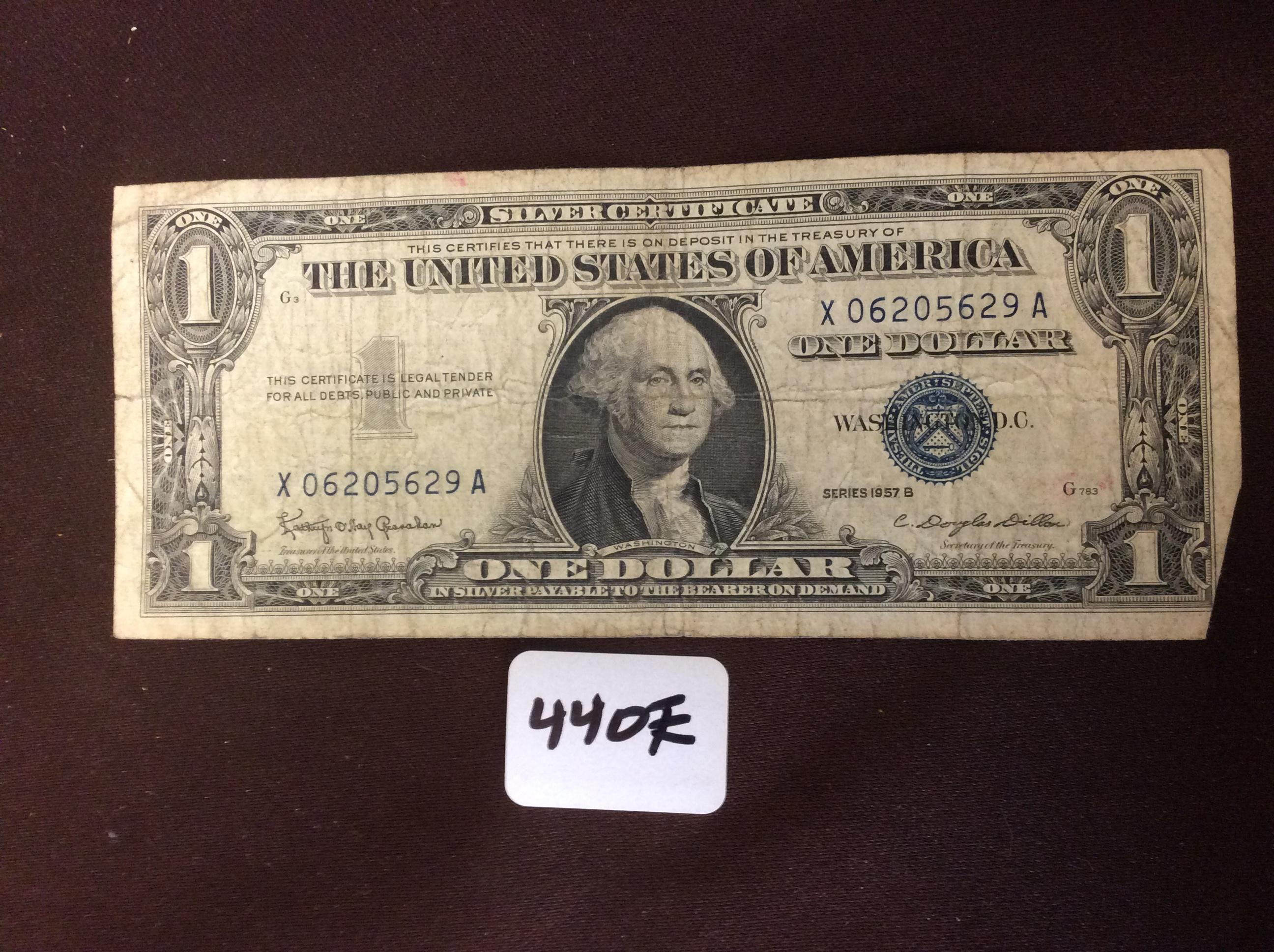 dollar series 1957 silver bill certificate lot