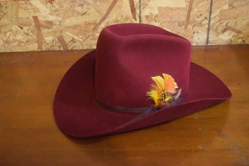 Red Cowgirl Hat - Size 7 1/8