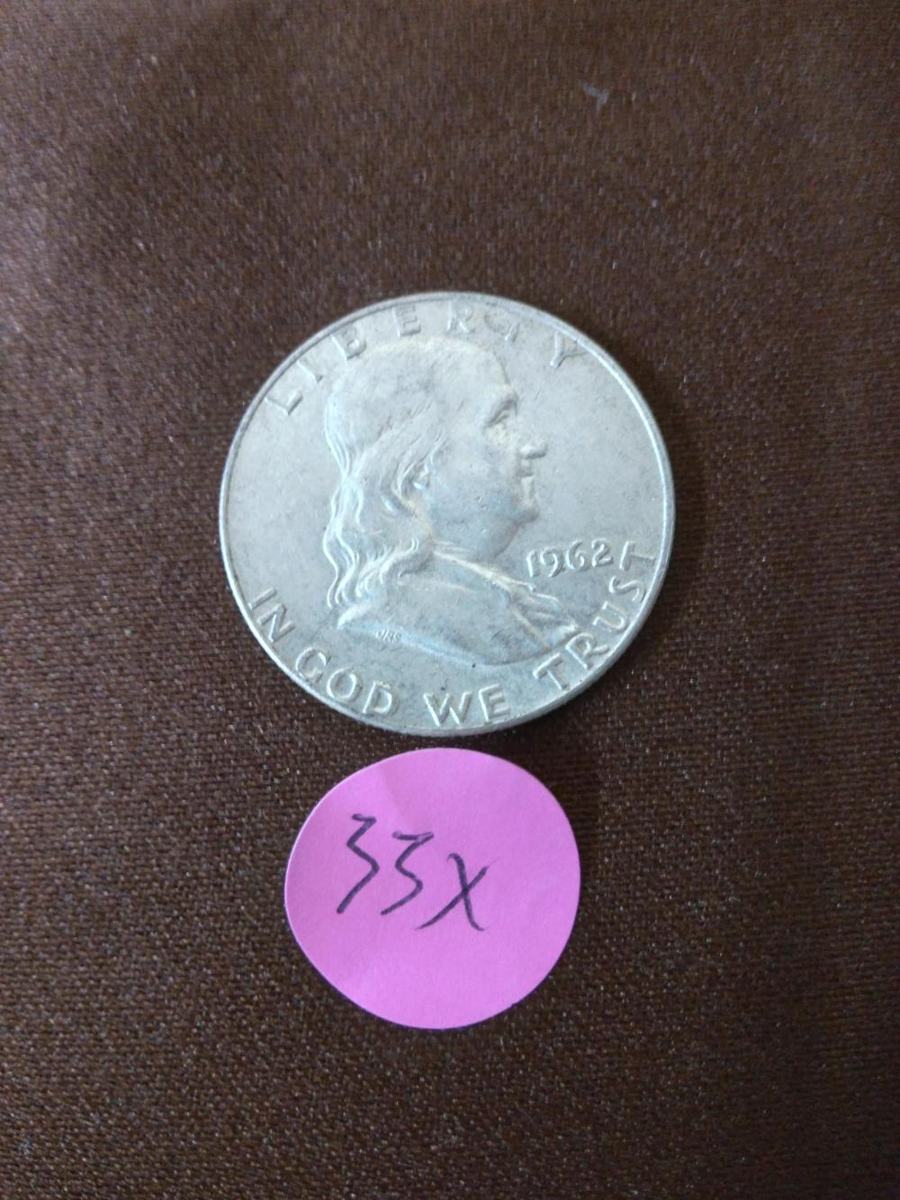 1962 D US Franklin Half Dollar Coin