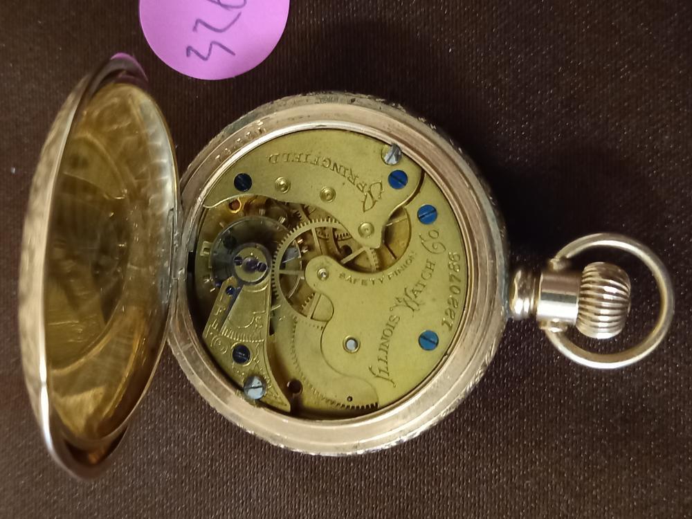 Illinois Watch Co. Springfield Serial # 1220786 Pocket Watch