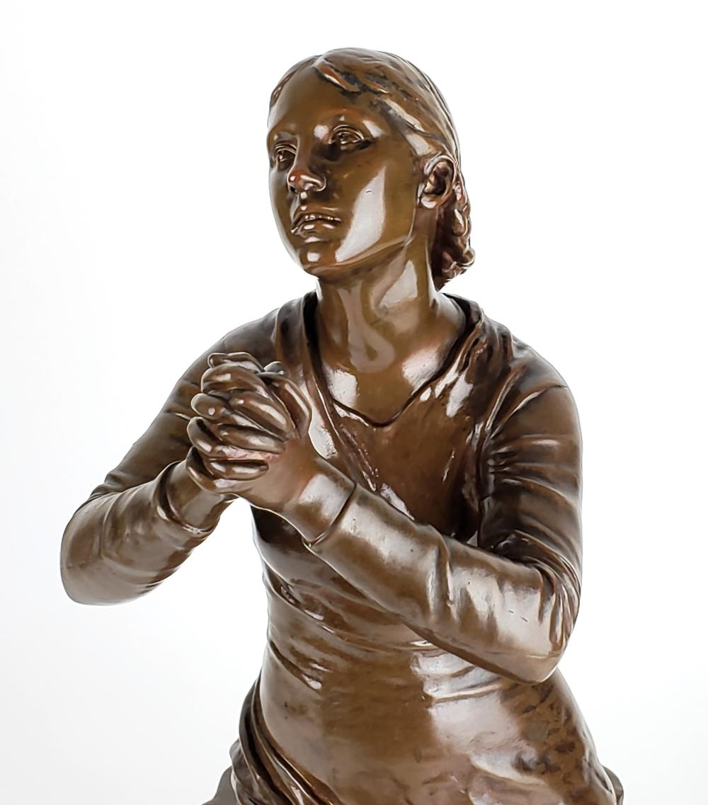19th C F Barbedienne Bronze Statue Signed F Dubois