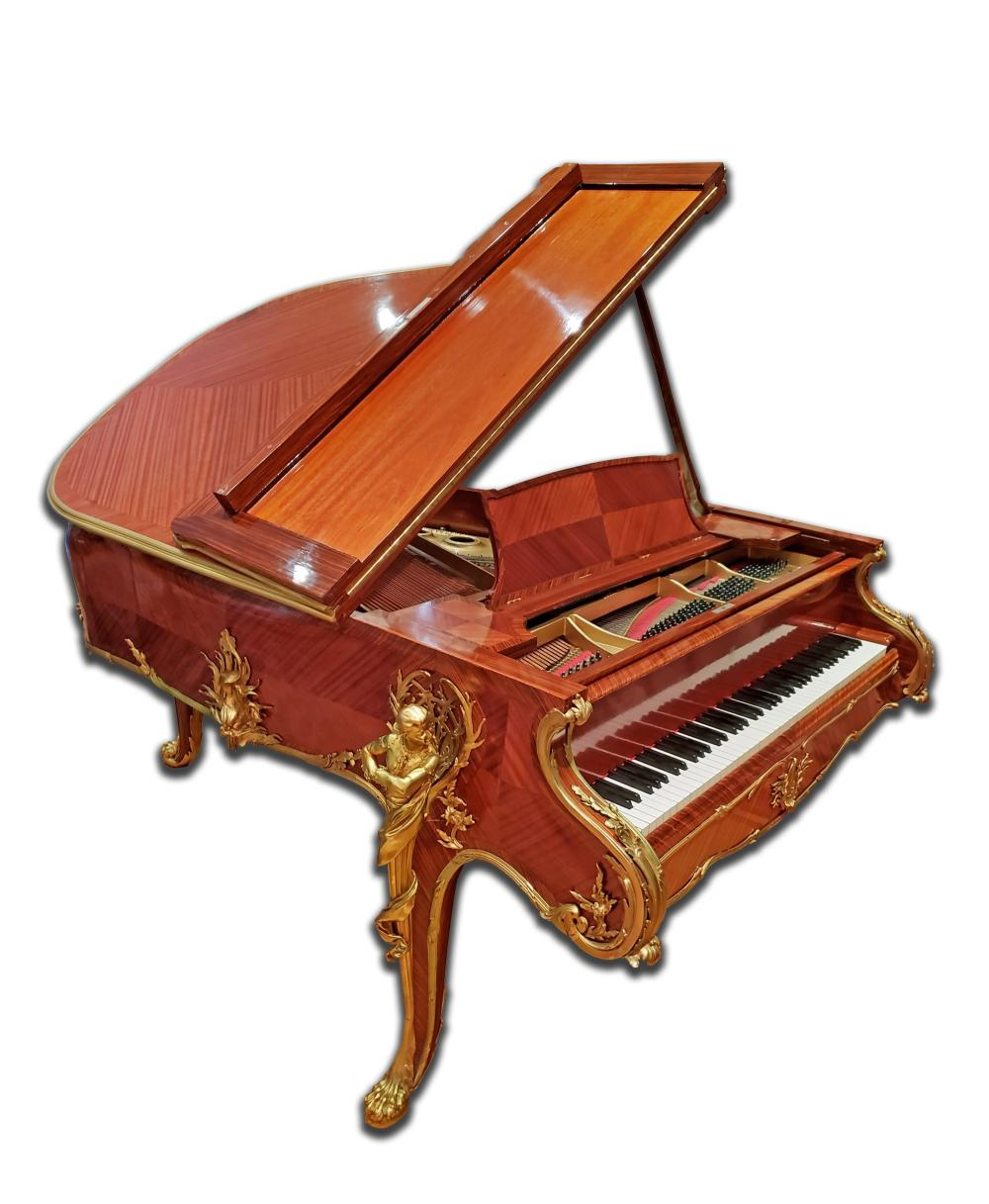 """Magnificent F. Linke Steinway & Sons """"Barber of Seville"""" Grand Piano with Ormolu Mounts"""