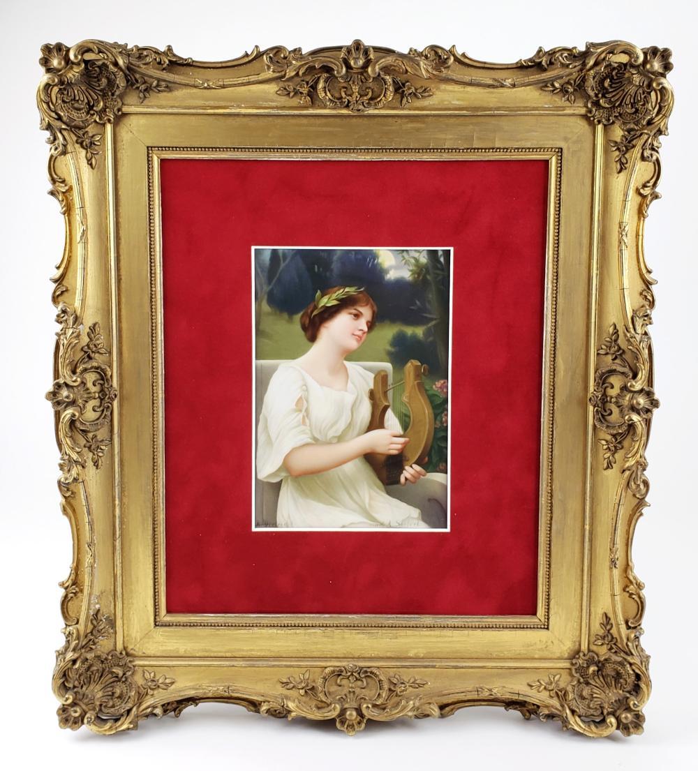 Exquisite 19th C. KPM Plaque Signed R. Dietrich