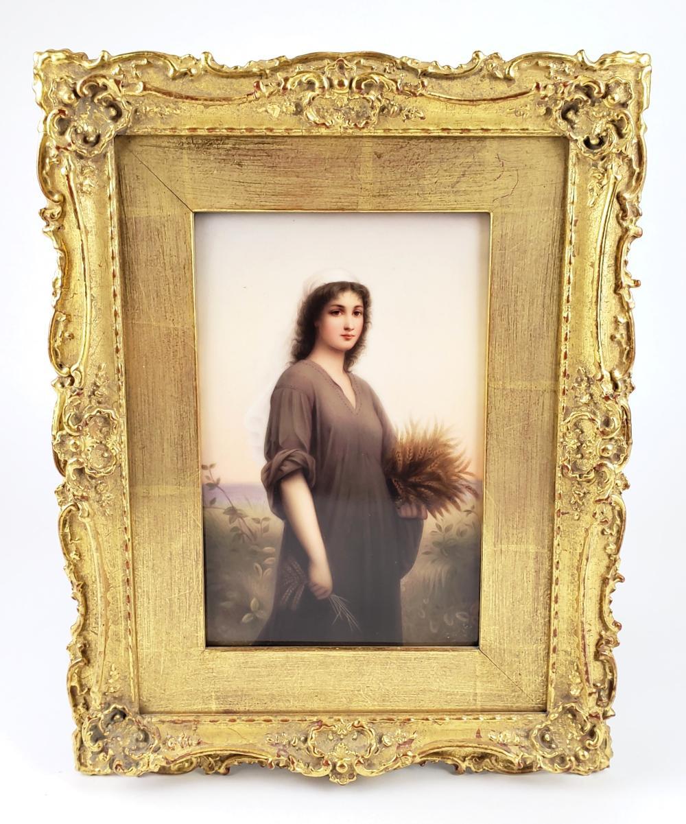 Exquisite 19th C. KPM Plaque of Ruth