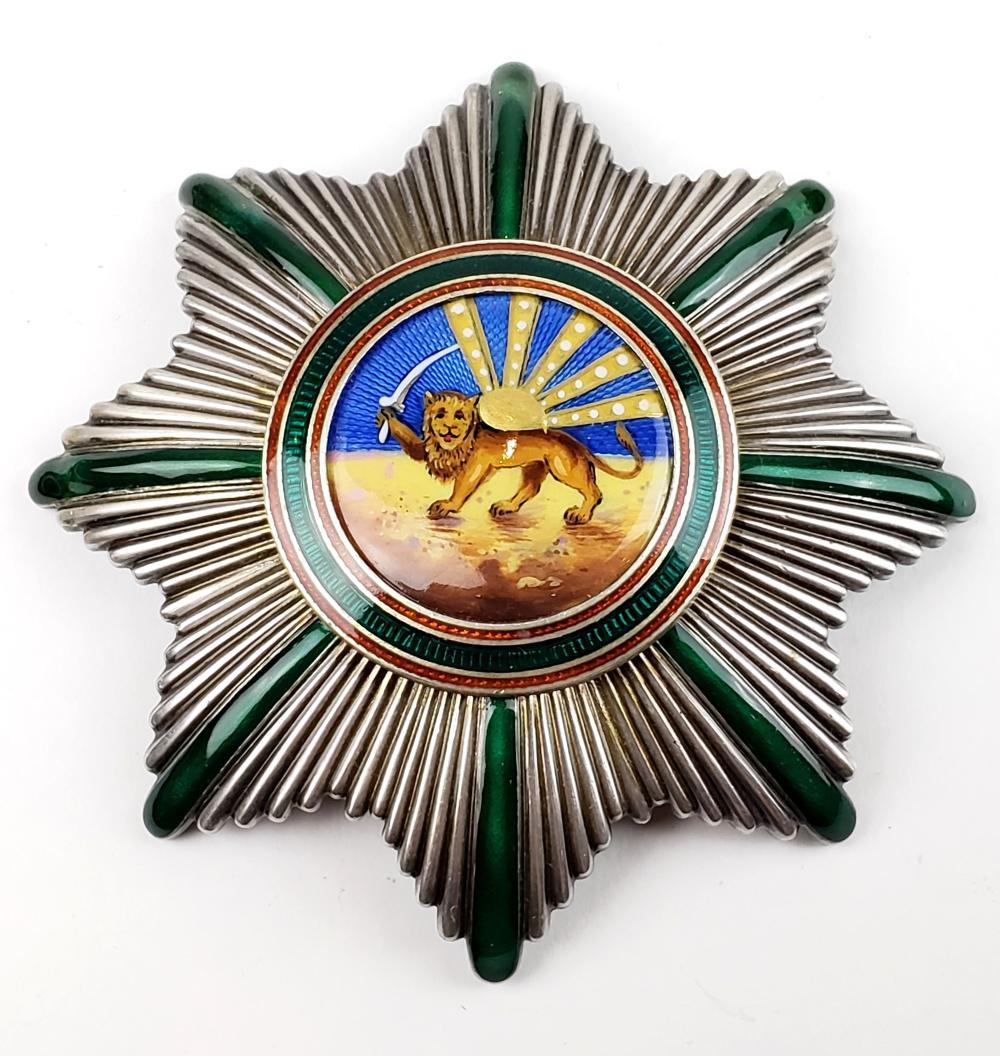 Palhavi Sterling Silver Enameled Lion & Sun Medal
