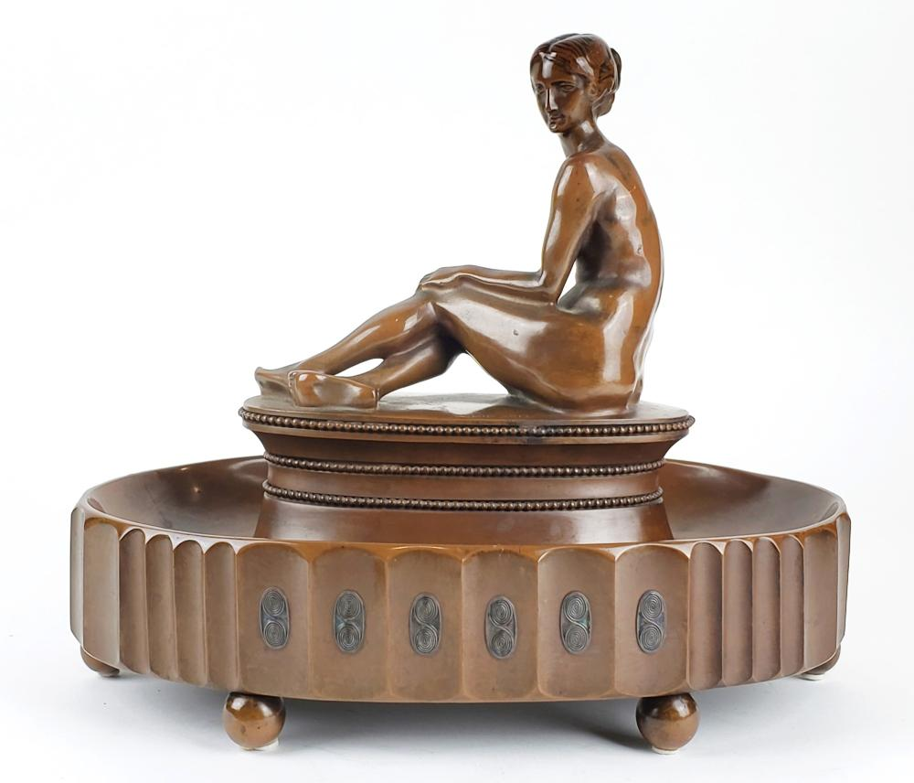 A Fine Art Deco Bronze Staue of Nude Woman Signed H. Kirsch, Circa 1900's