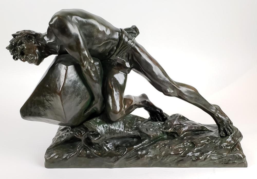 Magnificent 19th C. Edouard Drouot Signed Bronze Sculpture