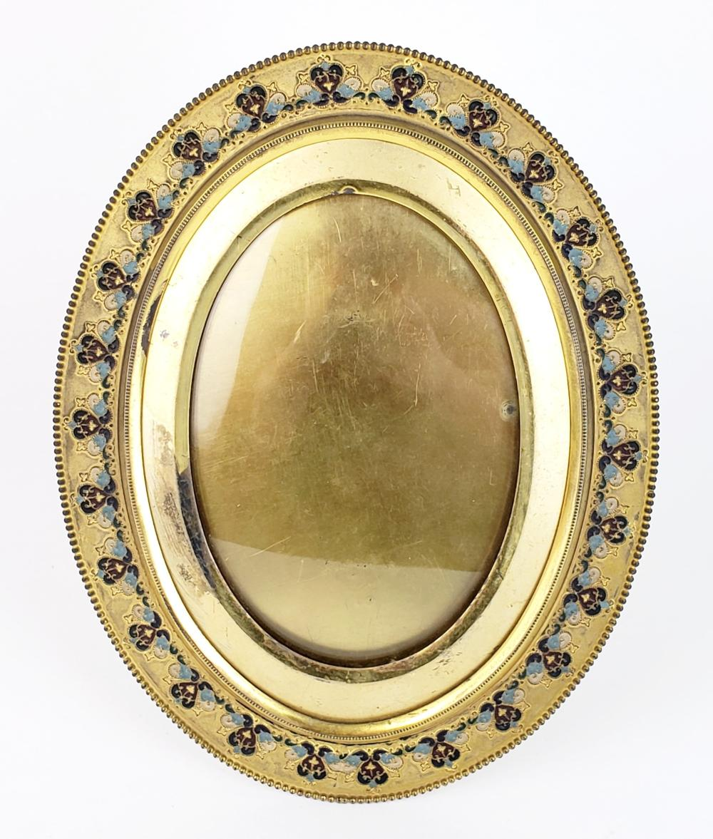 Bronze & Enamel Photo Frame