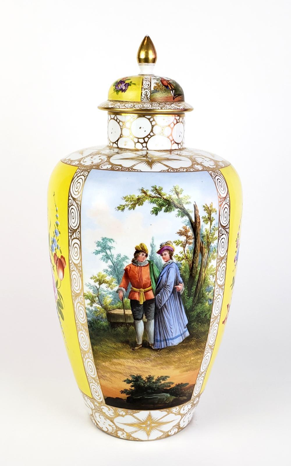 Meissen Syle Porcelain Vase