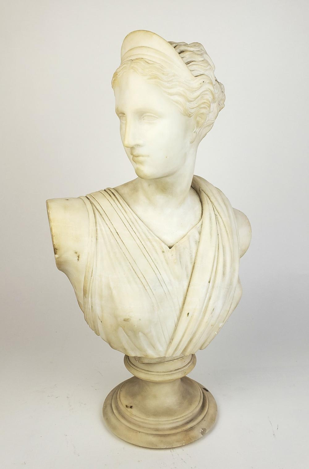 19th C. Marble Bust of Aphrodite