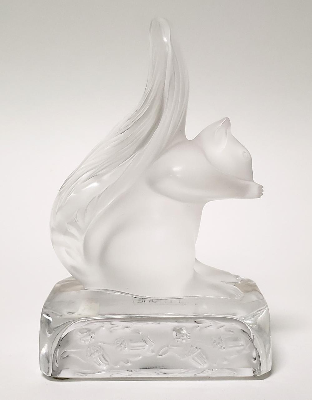 Lalique Crystal Figure of a Squirrel