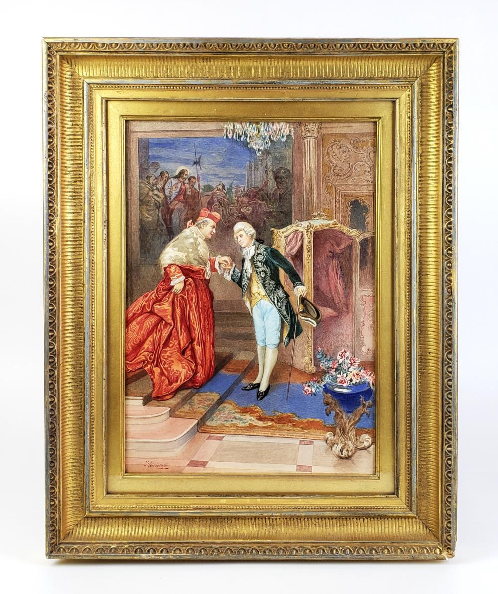 19th C. Watercolor Signed Umberto Cacciarelli (Italian 1880-1939)