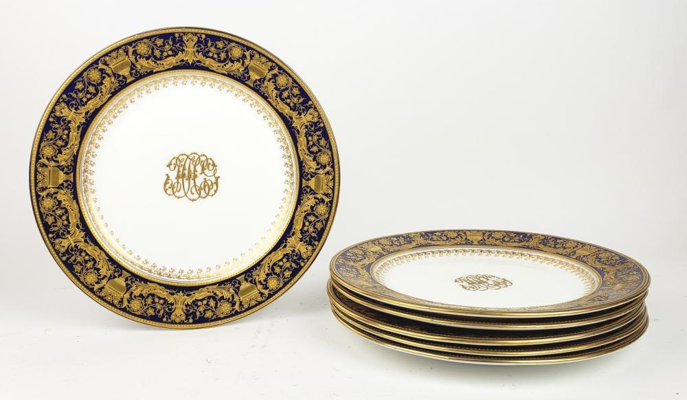 Set of 6 Royal Worchester Porcelain Plates