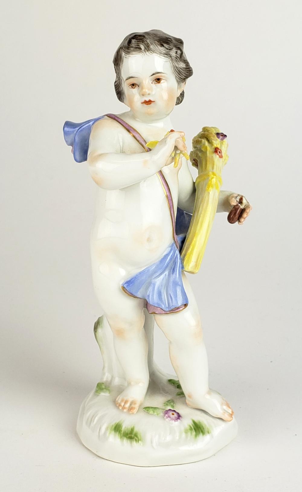 19th C. Meissen Figure of Boy