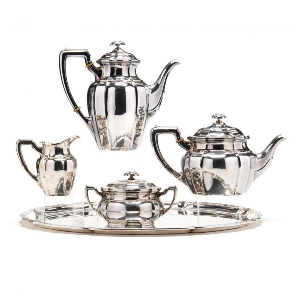 5 pc. German .800 Silver Tea & Coffee Service