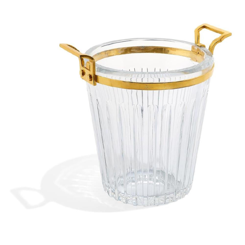 A Baccarat Crystal & Bronze Champagne Bucket