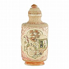 Chinese ivory perfume bottle and stopper