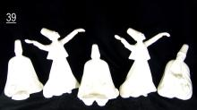 Porcelain Whirling Dervishes and Musicians - Sufi Ceremony