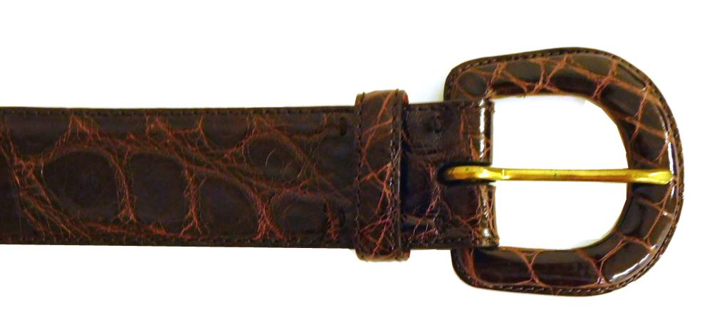 "VINTAGE CLOTHING: Seventeen women's Ralph Lauren belts, size 26"", small and extra small, details include: seven genuine alligator be.."